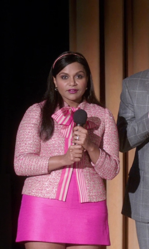 Mindy Kaling with Tome Tweed Jacket in The Mindy Project