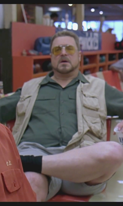 John Goodman with Lucky Brand Solid Cargo Shorts in The Big Lebowski