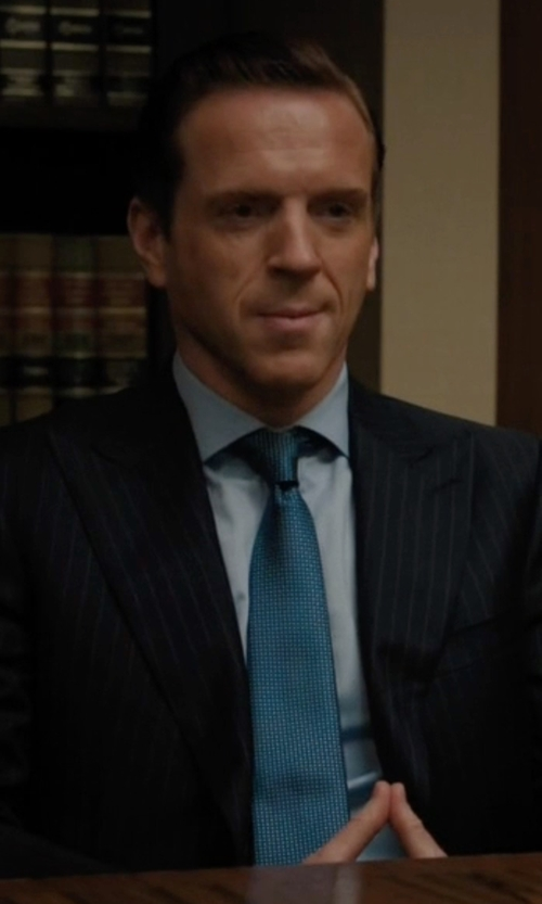 Damian Lewis with Canali Stripe Suits in Billions