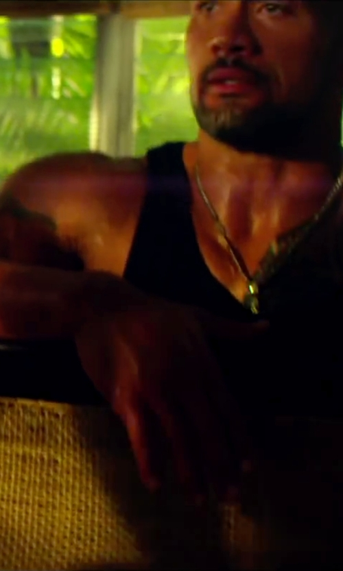 Dwayne Johnson with Boss Hugo Boss Men's Tank Top in Pain & Gain
