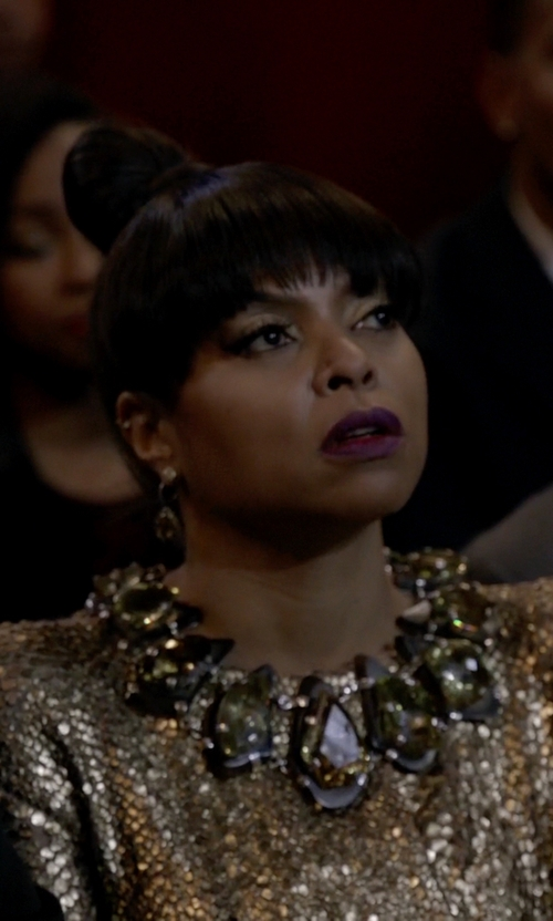 Taraji P. Henson with Kendra Scott Harlow Statement Necklace in Empire