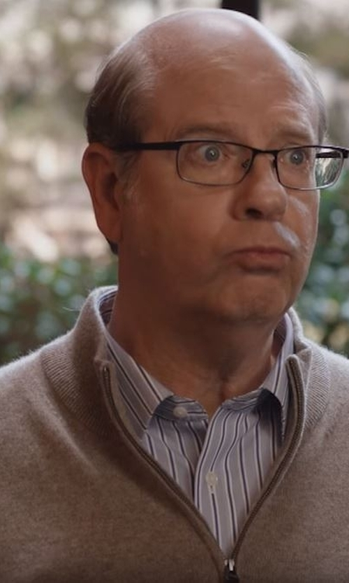 Stephen Tobolowsky with Barneys New York Half-Zip Sweater in Silicon Valley