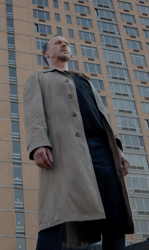 Michael Keaton with Prontomoda Cashmere Full Length Topcoat in Birdman