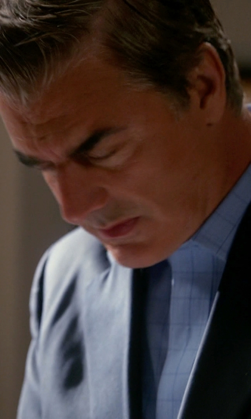 Chris Noth with Alara Window Pane Egyptian Cotton Shirt in The Good Wife