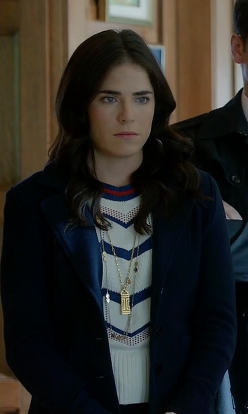 Karla Souza with 3.1 Phillip Lim Wool Single Button Blazer in How To Get Away With Murder