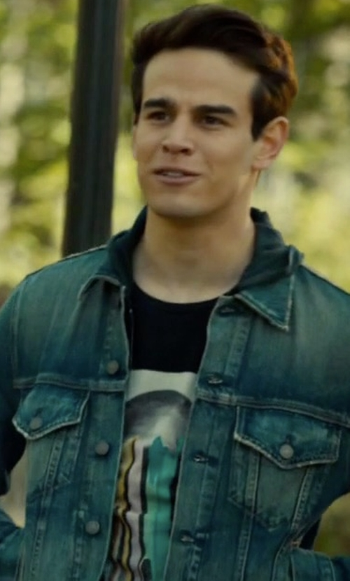 Alberto Rosende with Neuw Denim Jacket in Shadowhunters