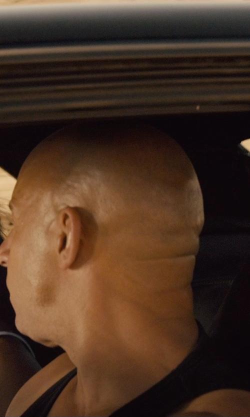 Vin Diesel with Versace Basic Tank Top in Furious 7