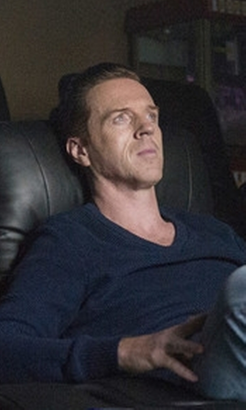 Damian Lewis with Puma Suede Classic Shoes in Billions