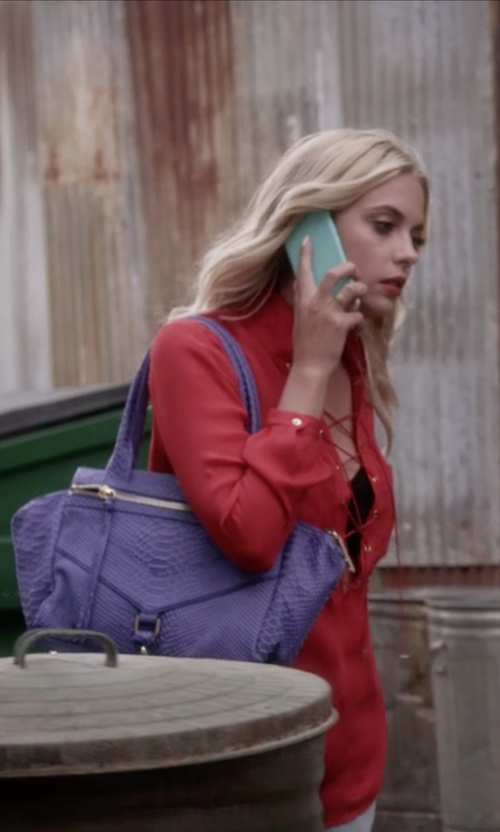 Ashley Benson with Botkier Trigger Satchel In Cobalt in Pretty Little Liars