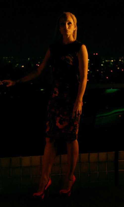 Kristin Scott Thomas with Saint Laurent Janis Tumbled Leather Pumps in Only God Forgives