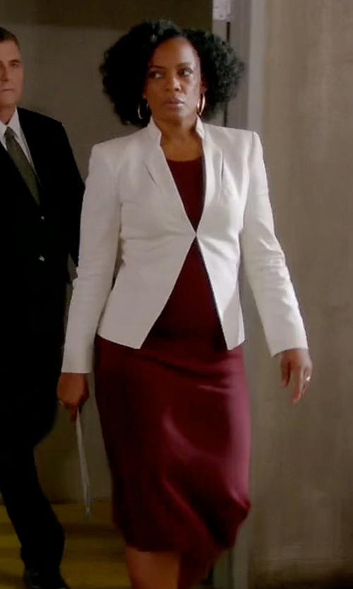 Aunjanue Ellis with Ann Taylor Sleeveless Sheath Dress in Quantico