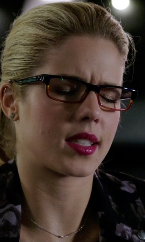 Emily Bett Rickards with Anthropologie Compass Rose Posts Earrings in Arrow