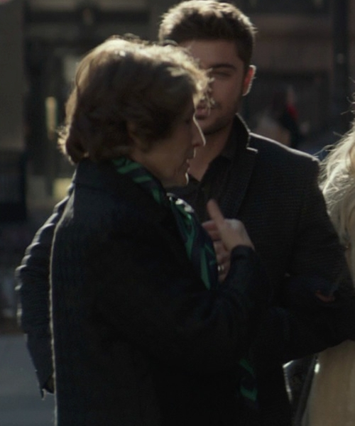 Karen Ludwig with Bottega Veneta Printed Scarf in That Awkward Moment