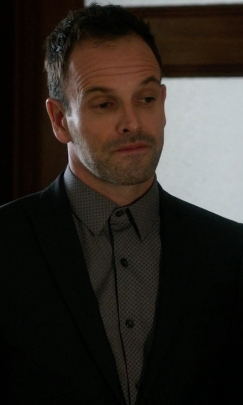 Jonny Lee Miller with Cego Custom Made Micro Button Shirt in Elementary