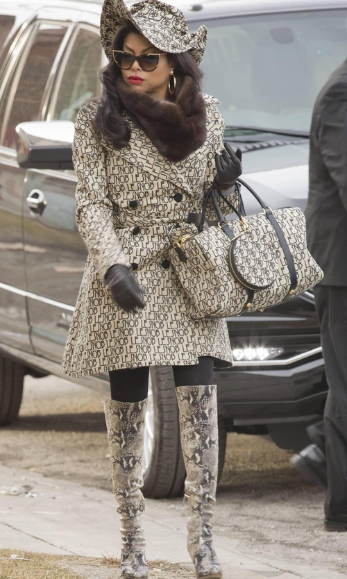 Taraji P. Henson with Free People 'New Castle' Knee High Boots in Empire