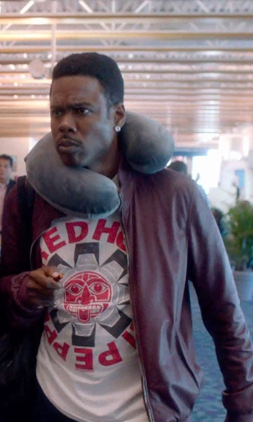 Chris Rock with Vince Camuto Vintage Leather Jacket in Top Five