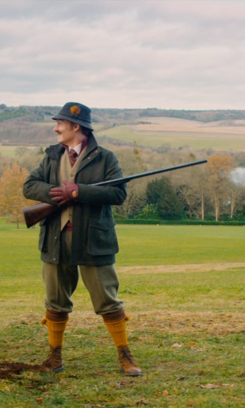 Johnny Depp with Winchester Repeating Arms Company Model 1873 rifle in Mortdecai