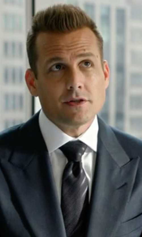 Gabriel Macht with Armani Collezioni Tonal Dressy-Stripe Tie in Suits