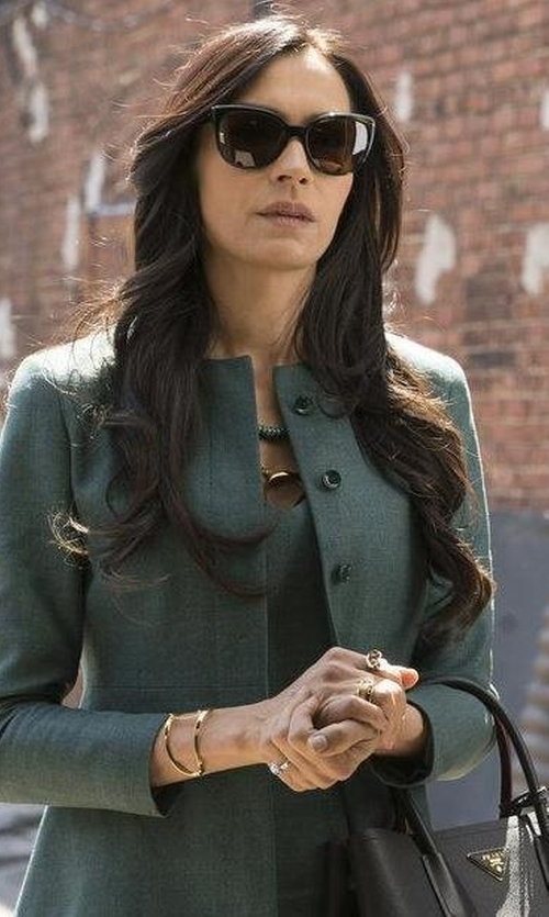 Famke Janssen with Balenciaga Twisted Cat-Eye Sunglasses in The Blacklist