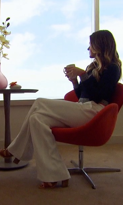 JoJo Fletcher with Ramy Brook Lincoln Side-Button Pants in The Bachelorette