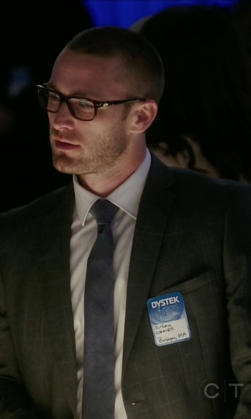 Jake McLaughlin with Burberry London 'Stirling' Trim Fit Windowpane Check Wool Suit in Quantico