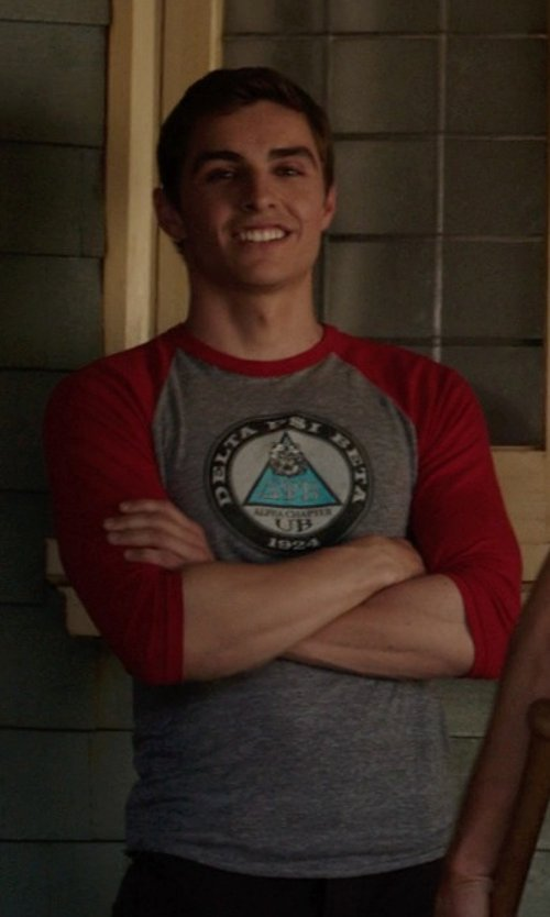 Dave Franco with Cinch Modern Fit Baseball T-Shirt in Neighbors