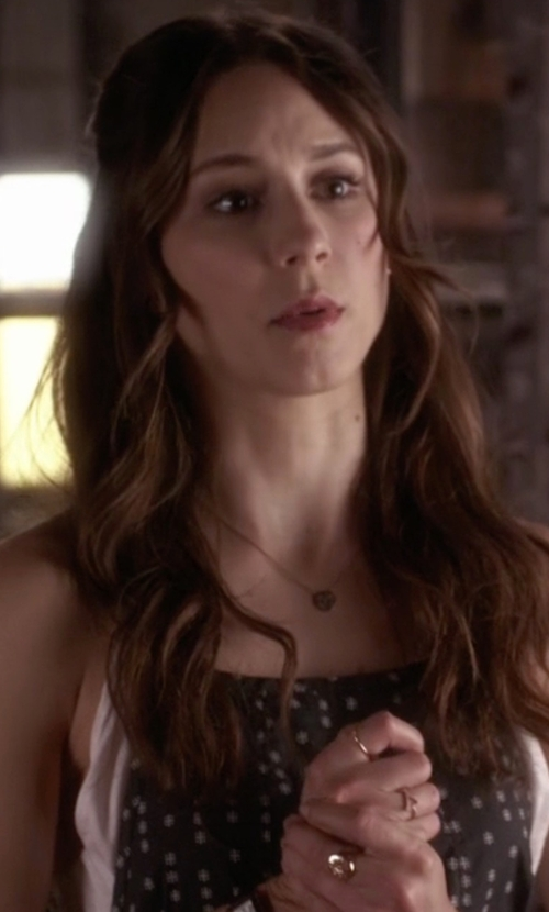Troian Bellisario with Pena Jewels Gold Plated Ring in Pretty Little Liars