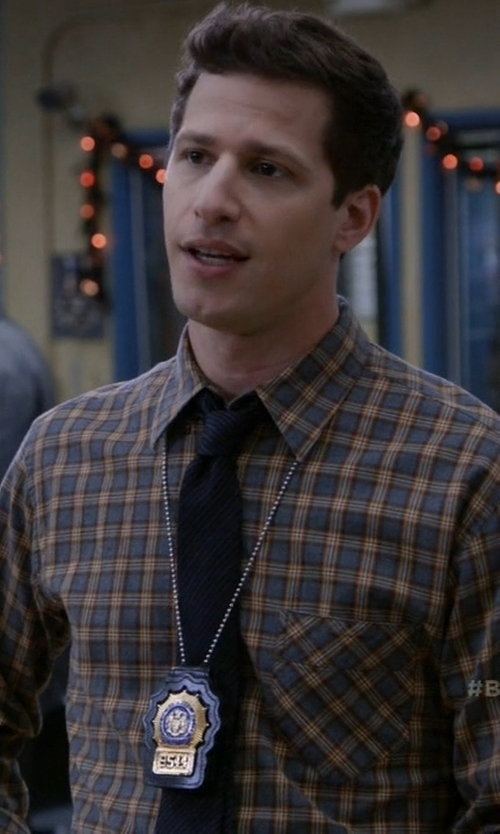 Andy Samberg with Billy Reid Walland Shirt in Brooklyn Nine-Nine