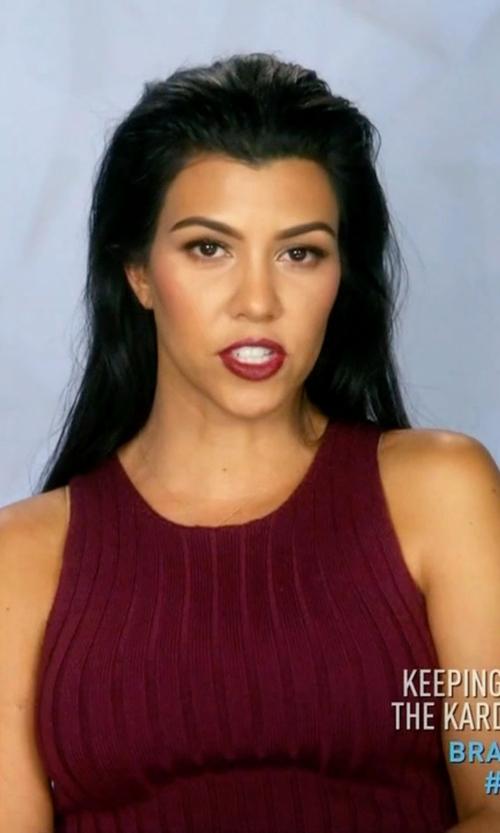 Kourtney Kardashian with Ronny Kobo Varvana Ribbed Knit Dress in Keeping Up With The Kardashians