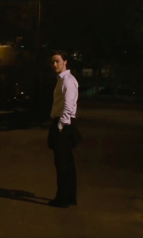 James McAvoy with Stacy Adams Men's Ashby Oxford Suede Shoes in The Disappearance of Eleanor Rigby