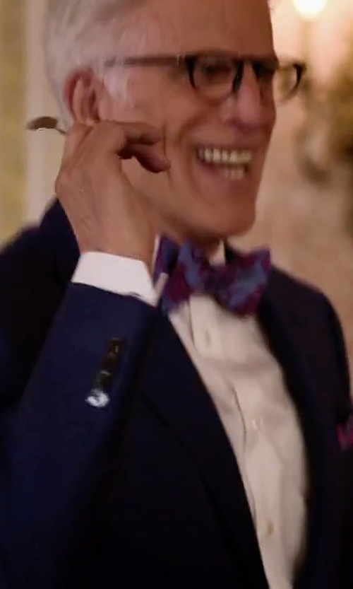 Ted Danson with Neiman Marcus Tailored-Fit Solid Two-Piece Suit in The Good Place