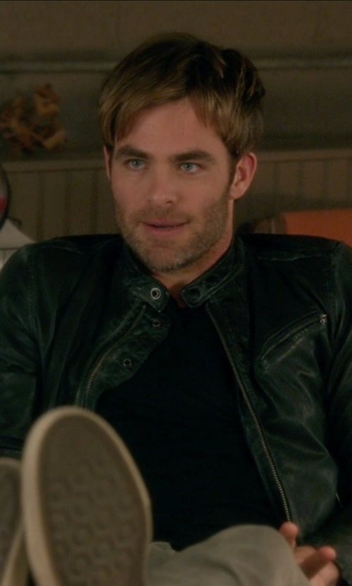Chris Pine with ATM Anthony Thomas Melillo Crew Neck Vintage Jersey T-Shirt in Horrible Bosses 2