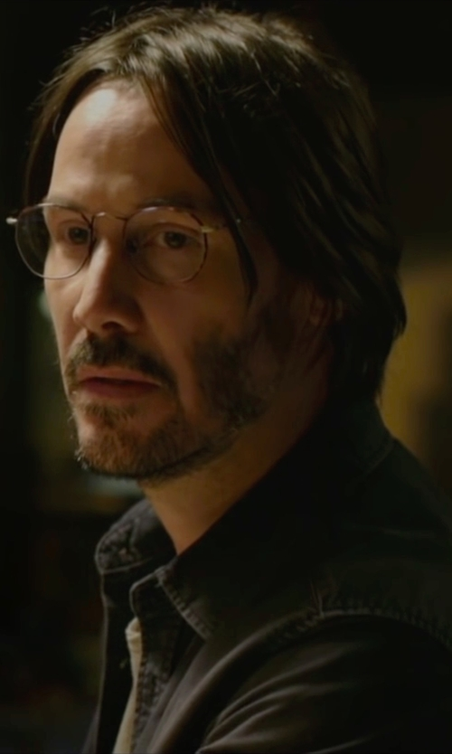 Keanu Reeves with Tom Ford Round Metal Eyeglasses in Knock Knock