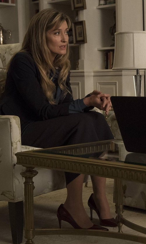 Natascha McElhone with LK Bennett Florete Leather Point Toe Pumps in Designated Survivor