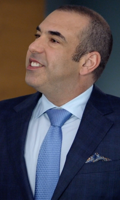 Rick Hoffman with Ike Behar Solid Dress Shirt in Suits