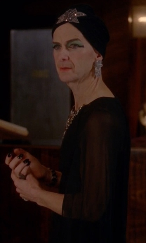 Denis O'Hare with Komarov Quarter Sleeve Mesh Top in American Horror Story
