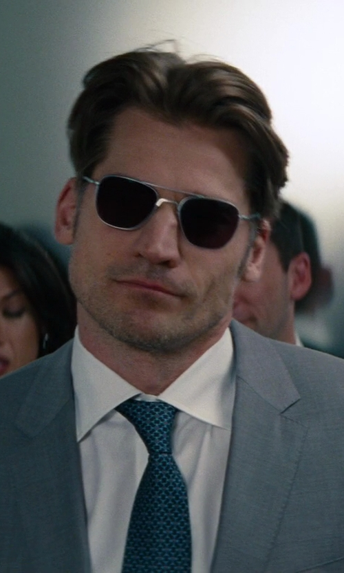 Nikolaj Coster-Waldau with Randolph Engineering Aviator Sunglasses in The Other Woman