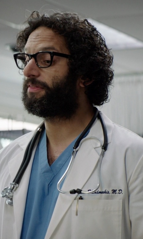 Jason Mantzoukas with Omron Sprague Rappaport Stethoscope in Neighbors