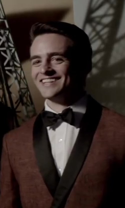 Vincent Piazza with David Donahue Regular Fit Tuxedo Shirt in Jersey Boys