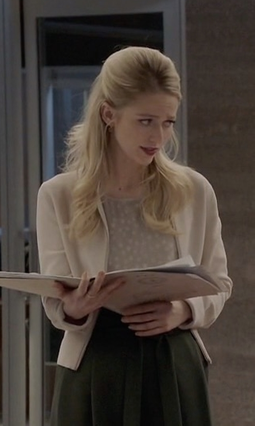 Johanna Braddy with Blaque Label Open Front Blazer in Quantico