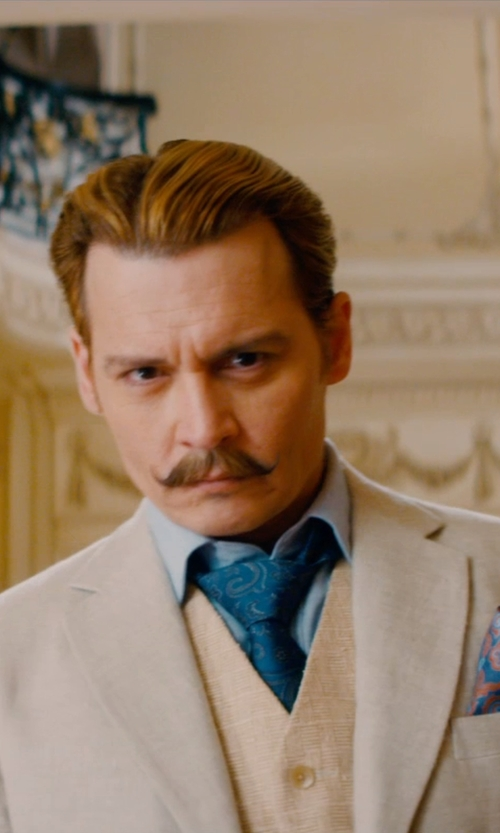 Johnny Depp with D.A. Daniele Alessandrini Suit Vest in Mortdecai