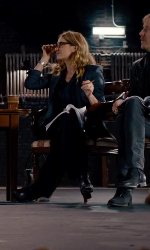 Kathryn Hahn with Aandrea Bernes Zip Closure Ankle Boots in She's Funny That Way