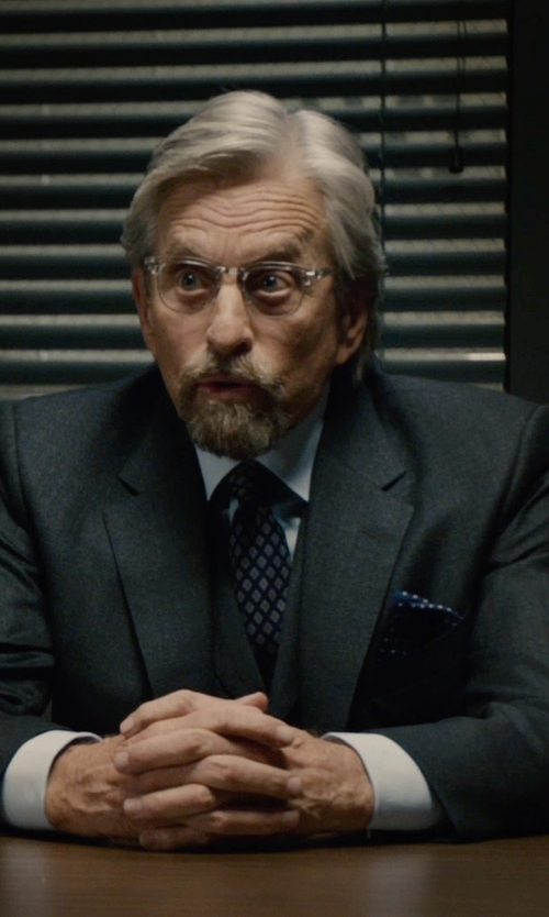 Michael Douglas with Hugo Boss Microcheck Wool Three Piece Suit in Ant-Man