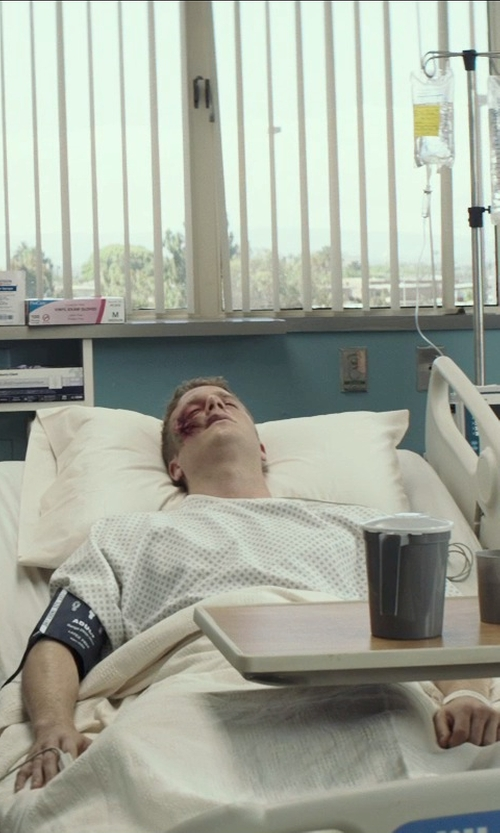Jake McDorman with Medline Classic Patient Hospital Gown in American Sniper