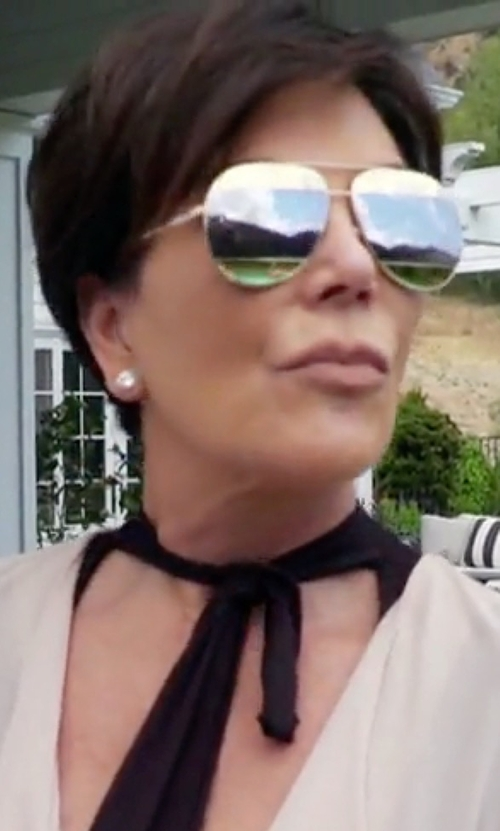 Kris Jenner with Dior DiorSplit Two-Tone Metallic Aviator Sunglasses in Keeping Up With The Kardashians