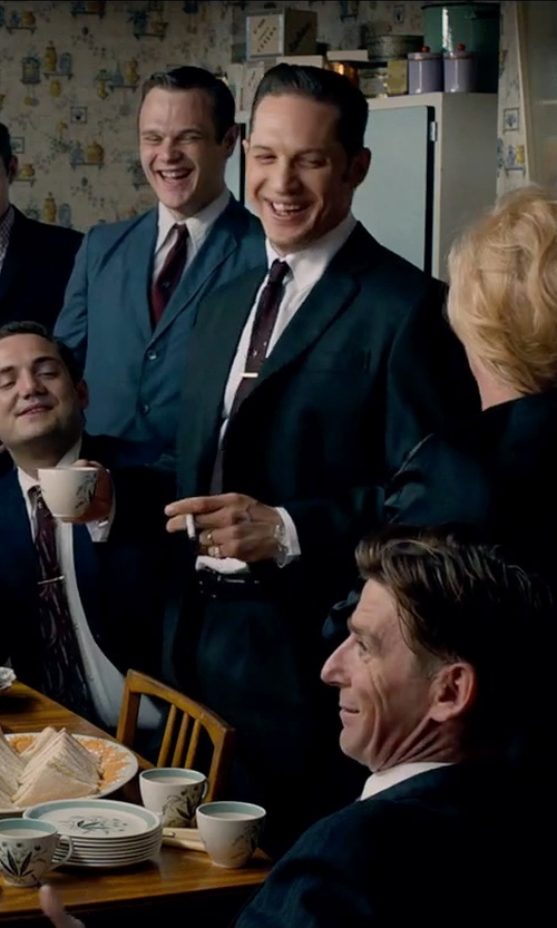 Tom Hardy with Ted Baker Solid Silk Tie in Legend