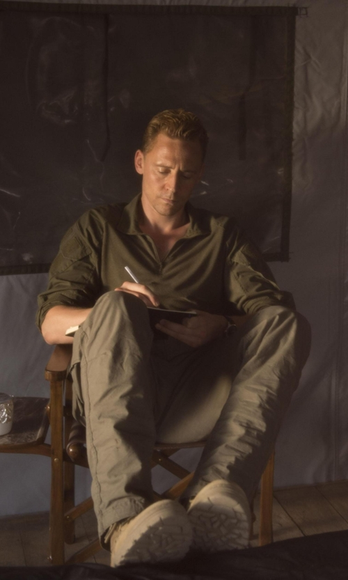 Tom Hiddleston with Woolrich Obstacle II Pants in The Night Manager