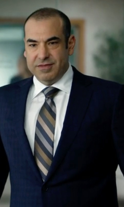 Rick Hoffman with Saks Fifth Avenue Collection Samuelsohn Two-Button Check Wool Suit in Suits