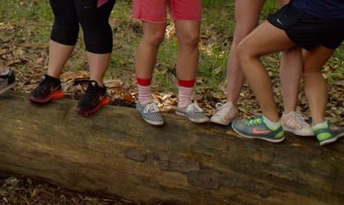 Hana Mae Lee with Happy Socks Stripe Sock in Pitch Perfect 2