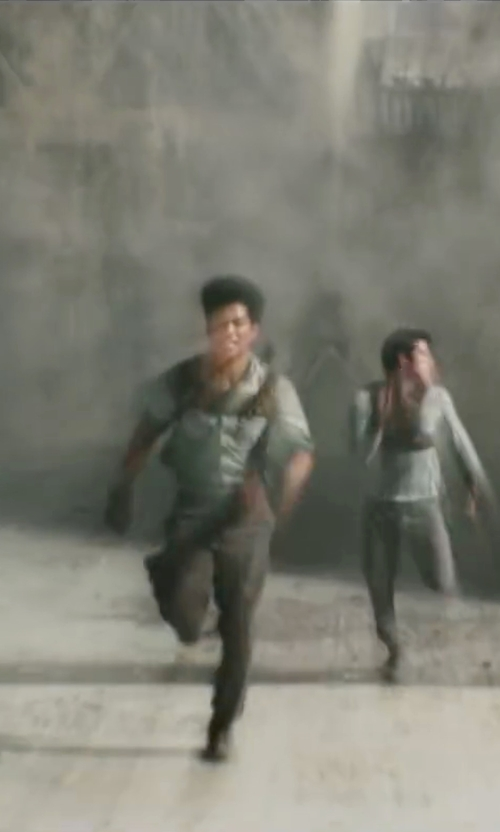 Ki Hong Lee with Christine Bieselin Clark and Simonetta Mariano (Costume Designers) Custom Made Leather Chest Plate Harness (Minho) in Maze Runner: The Scorch Trials